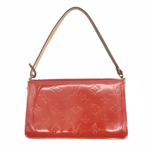 Vintage Louis Vuitton Vernis Pochette Mini Shoulder Bag in Red | NITRYL