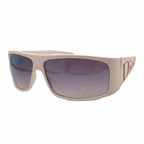 Vintage Dior Chunky Spellout Logo Sunglasses in Baby Pink   NITRYL