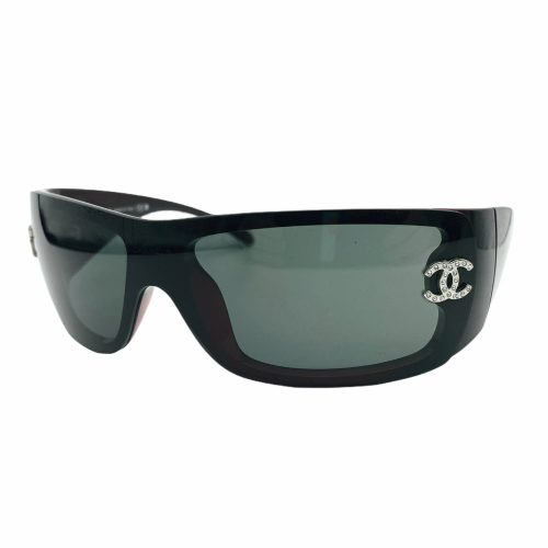 Vintage Chanel Diamante Chunky Sunglasses in Black | NITRYL