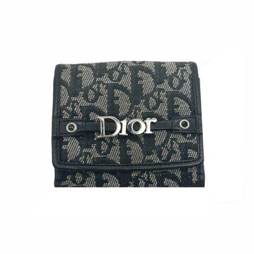 Vintage Dior Monogram Logo Purse in Black   NITRYL