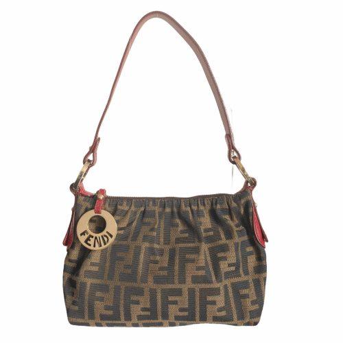 Vintage Fendi Zucca Monogram Mini Shoulder Bag | NITRYL