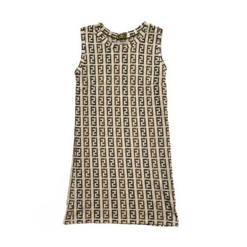 Vintage Fendi Monogram Terrycloth Mini Dress Size S/M | NITRYL