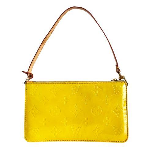 Vintage Louis Vuitton Vernis Pochette Mini Shoulder Bag in Yellow | NITRYL