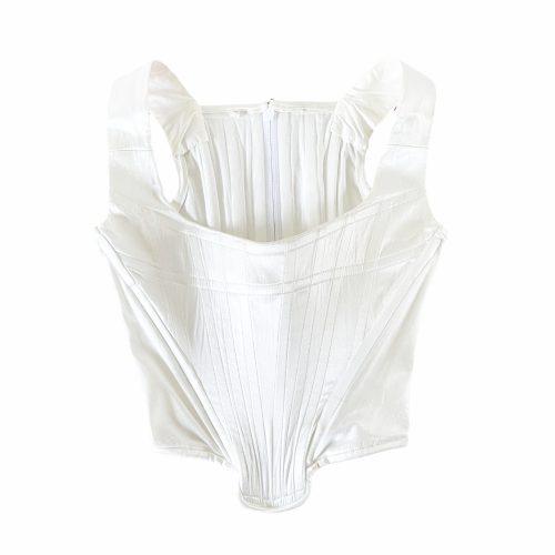 Vintage Vivienne Westwood Satin Corset in Cream/White | NITRYL