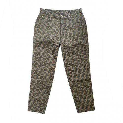 Vintage Fendi Zucca Monogram High Rise Straight Leg Jeans W34 | NITRYL