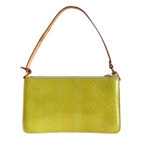Vintage Louis Vuitton Vernis Pochette Mini Shoulder Bag in Green | NITRYL