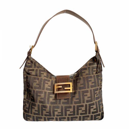 Vintage Fendi Zucca Shoulder Baguette Bag | NITRYL