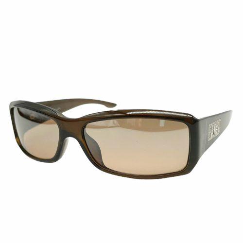 Vintage Dior Diamante Logo Sunglasses in Brown | NITRYL