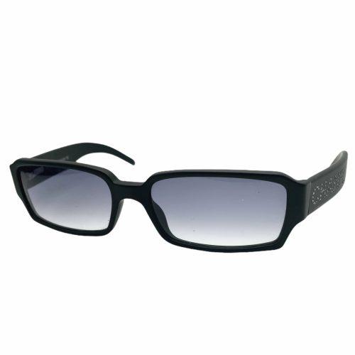 Vintage Chanel Diamante Chunky Spellout Sunglasses in Black | NITRYL