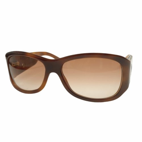 Vintage Dior Chunky Cutout Logo Sunglasses in Brown | NITRYL