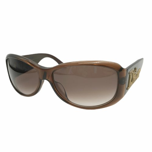 Vintage Dior Chunky Spellout Sunglasses in Brown and Gold | NITRYL