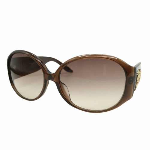 Vintage Dior Chunky Logo Spellout Sunglasses in Brown and Gold | NITRYL
