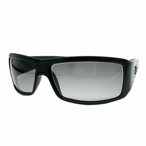 Vintage Dior Chunky Diamante Logo Sunglasses in Black | NITRYL