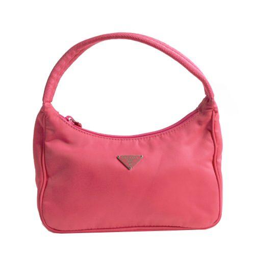 Vintage Prada Nylon Hobo Mini Bag in Pink | NITRYL