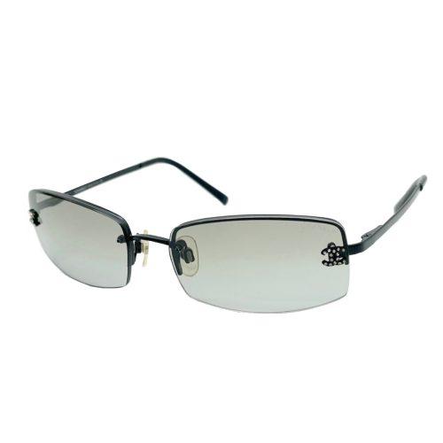 Vintage Chanel Diamante Rimless Sunglasses in Black | NITRYL