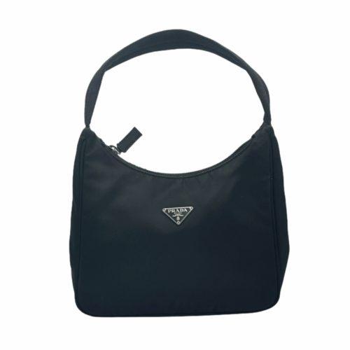 Vintage Prada Nylon Hobo Mini Bag in Black | NITRYL