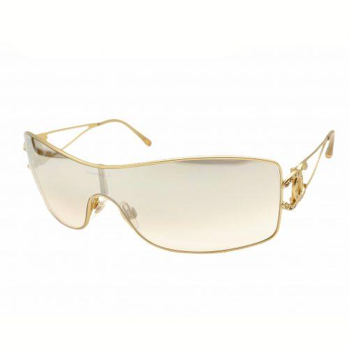 Vintage Chanel Diamante Visor Sunglasses in Gold | NITRYL