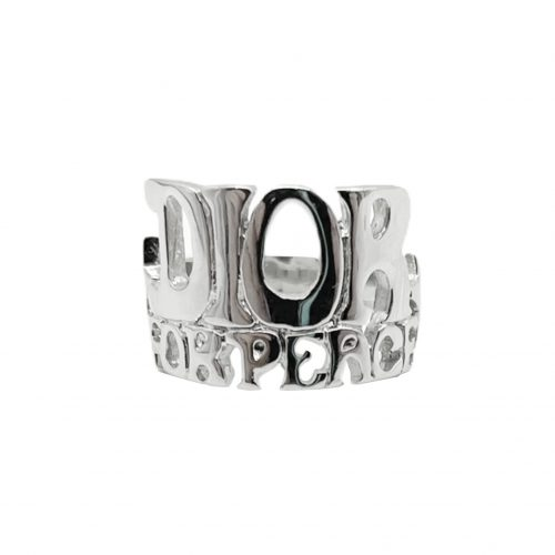 Vintage Dior 'Dior For Peace' Ring in Silver | NITRYL