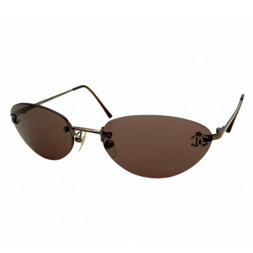 Vintage Chanel Rimless Sunglasses in Brown | NITRYL
