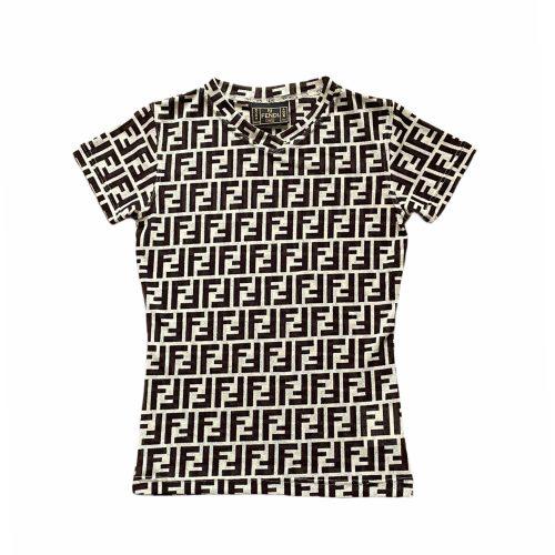 Vintage Fendi Zucca Monogram Sheer T-Shirt Size S   NITRYL