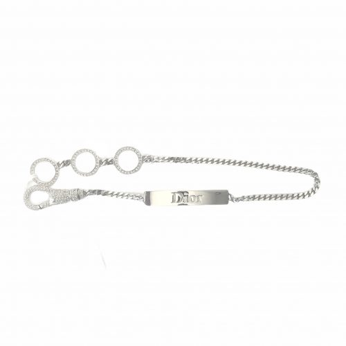 Vintage Dior Diamante Hardcore Choker in Silver | NITRYL