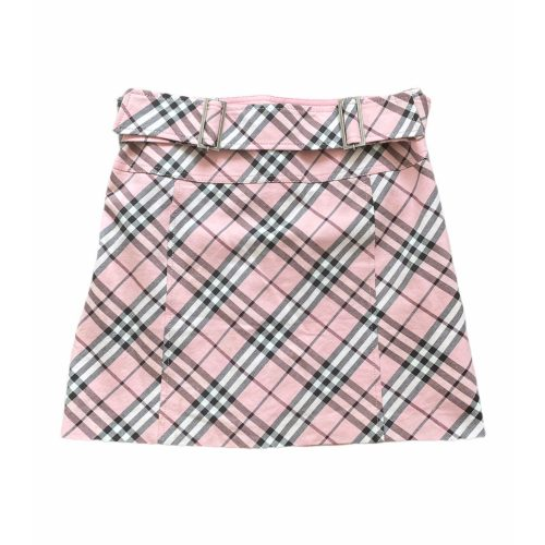 Vintage Burberry Nova Check Belted Mini Skirt in Pink | NITRYL
