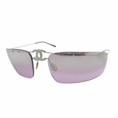 Vintage Chanel Rimless Folding Sunglasses in Purple | NITRYL