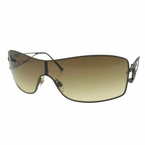 Vintage Chanel Diamante Rimless Visor Sunglasses in Brown | NITRYL