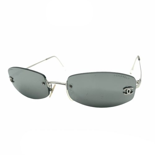 Vintage Chanel Rimless Mirrored Sunglasses in Silver | NITRYL