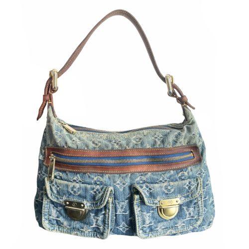 Vintage Louis Vuitton Denim Monogram 'Baggy' Shoulder Bag | NITRYL
