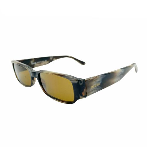 Vintage Moschino Tortoishell Sunglasses in Brown with Yellow Lens   NITRYL