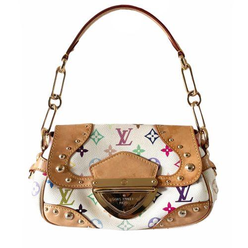Vintage Louis Vuitton Murakami Multicolour Marilyn Shoulder Bag in White | NITRYL