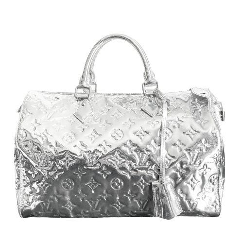 Vintage Louis Vuitton Mirror Speedy in Silver | NITRYL