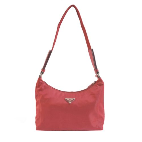 Vintage Prada Nylon Shoulder Bag in Red | NITRYL