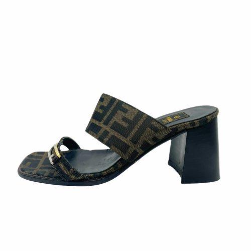 Vintage Fendi Monogram Heeled Sandals UK 3 | NITRYL