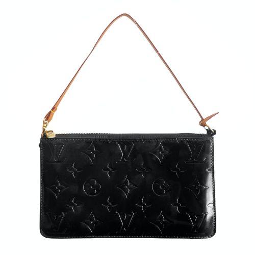 Vintage Louis Vuitton Vernis Pochette Mini Bag in Black | NITRYL