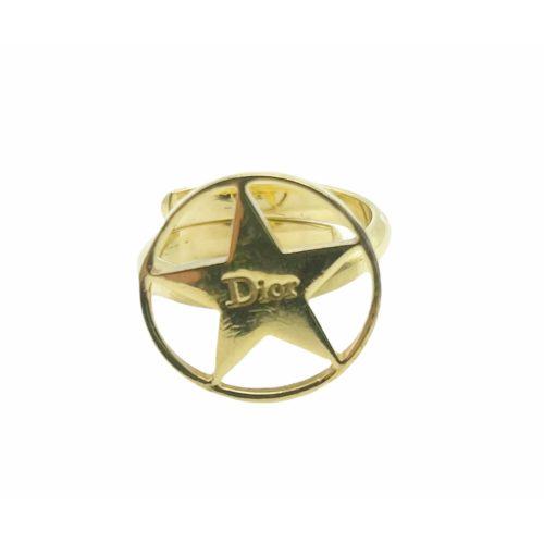 Vintage Dior Star Ring in Gold   NITRYL