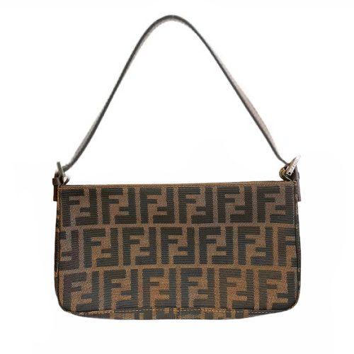 Vintage Fendi Monogram Baguette Shoulder Bag | NITRYL