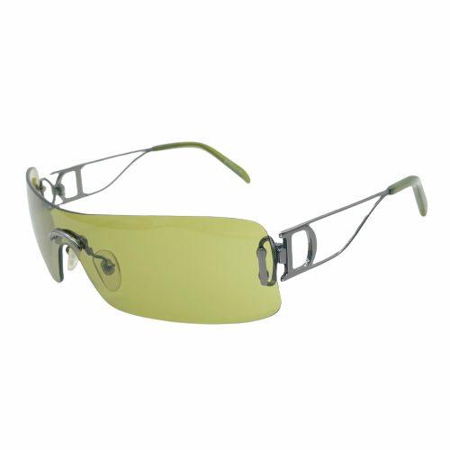Vintage Dior Rimless Sunglasses in Green | NITRYL