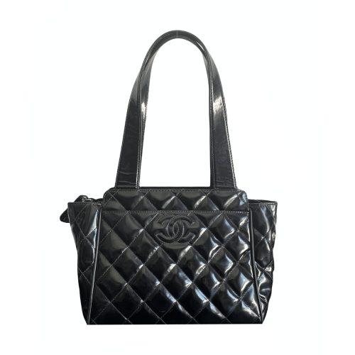 Vintage Chanel Mini Shoulder Bag in Black | NITRYL