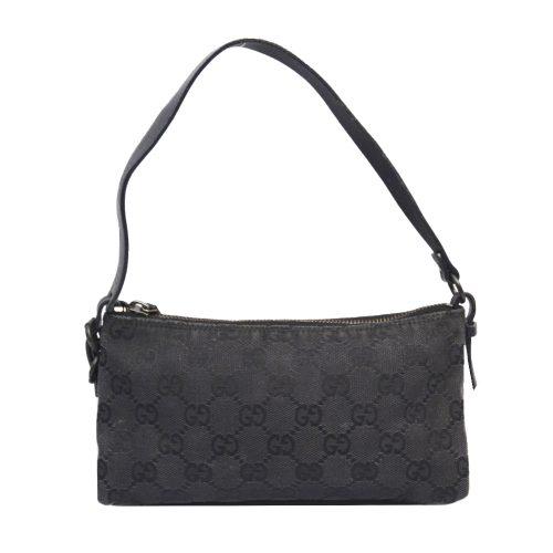 Vintage Gucci Monogram Mini Baguette Bag in Black | NITRYL