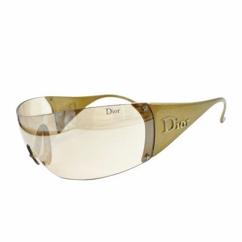 Vintage Dior Ski Visor Sunglasses in Gold | NITRYL