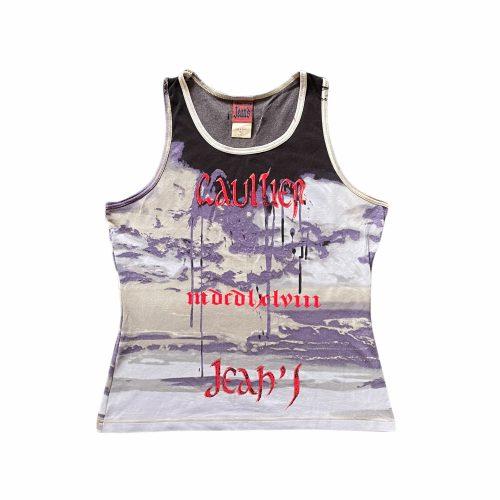 Vintage Jean Paul Gaultier Mesh Graphic Vest Top Size M | NITRYL