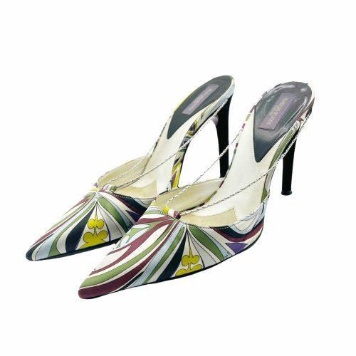 Vintage Emilio Pucci Abstract Chain Heels UK 2 | NITRYL