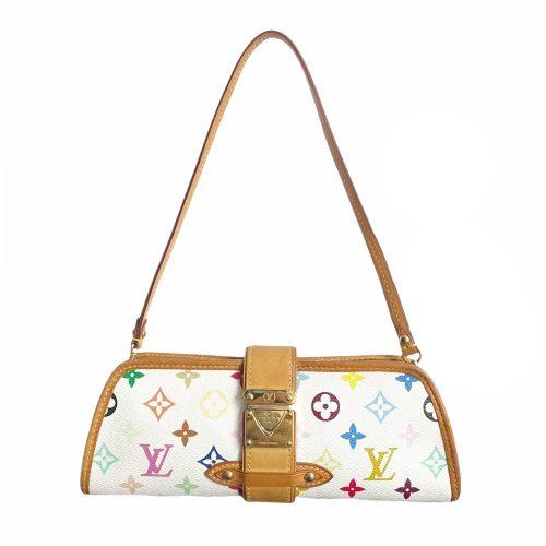 Vintage Louis Vuitton Multicolour Monogram Eliza Baguette Shoulder Bag in White | NITRYL