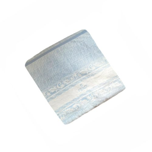 Vintage Fendi Monogram Blanket Throw in Baby Blue and White   NITRYL