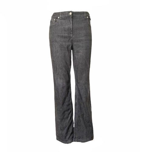 Vintage Dior Logo Embroidered Jeans in Black UK 14 | NITRYL