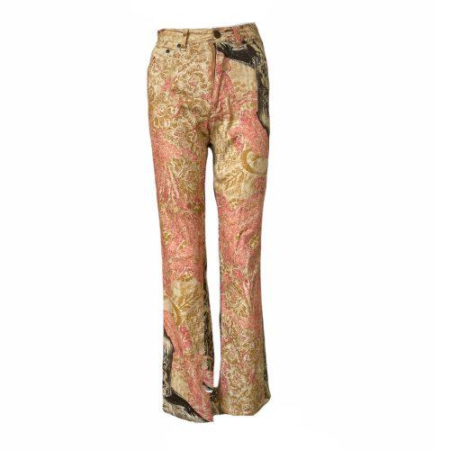 Vintage Roberto Cavalli Patterned Flare Jeans Size S | NITRYL