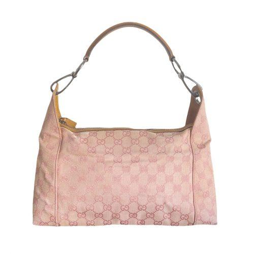 Vintage Gucci Monogram Shoulder Bag in Pink   NITRYL