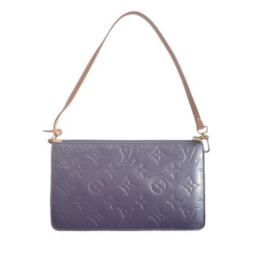 Vintage Louis Vuitton Vernis Mini Shoulder Bag in Blue/Grey   NITRYL
